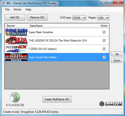 GameCube MultiGame ISO Creator | Wii SceneBeta com
