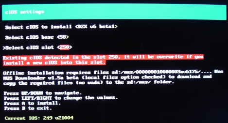 d2x cios installer