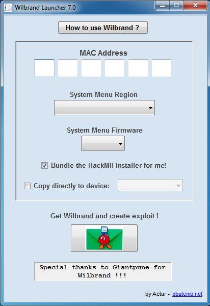 Wilbrand Launcher   Wii SceneBeta com