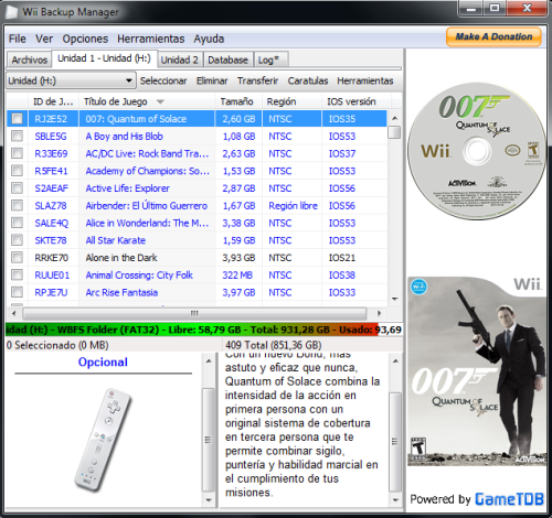 Wii Backup Manager | Wii SceneBeta com